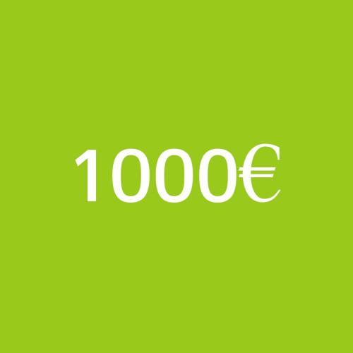 Prepago de servicios por valor de 1000 €